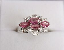 .925 Sterling Silver Marquise Ruby Ring New. Size N. NICE1