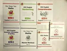 CGP Maths & English Learning Pack 7 Workbooks Home School Ages 8-9 School Year 4