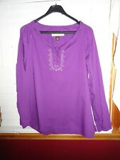 Women's Bit & Bridle tunic top, size large, purple, long sleeve