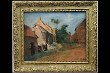 Huile sur toile, Paysage, vue de village/ Landscape, village view Oil on canvas