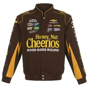 2021 Ryan Preece Cheerios Twill Cotton Full Snap Jacket Brown Limited Edition