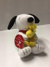 "Hallmark Snoopy & Woodstock Holiday Hugs To Share 7"" Stuffed Peanuts NOS Rare"
