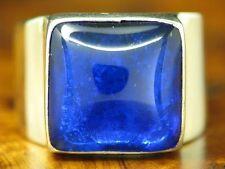 925 STERLING SILBER RING MIT GLASSTEIN BESATZ / ECHTSILBER / RG 53,5 / 10,0 g