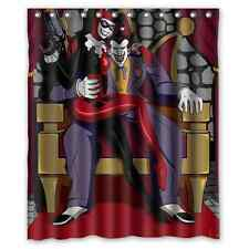 Brand New Joker and Harley Quinn Waterproof Bathroom Shower Curtain 60 x 72 Inch