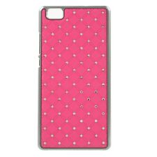 Coque rigide aspect diamants fond fushia pour Ascend P8-Lite
