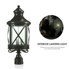 Lux Collection eTopLighting Outdoor Post Light Exterior Lantern with Rain Glass