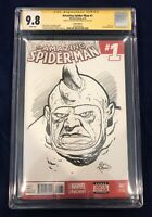 Amazing Spider-Man #1 CGC SS 9.8 Signed & Rhino Sketch by Eric Powell THE GOON!!