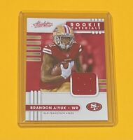 2020 Panini Absolute Brandon Aiyuk ROOKIE MATERIALS Jersey Relic 49ers #19 🔥