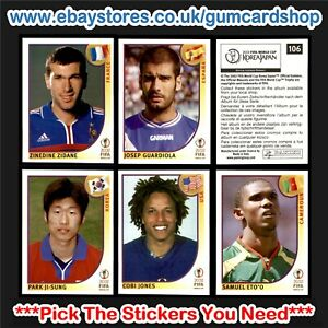 Panini World Cup 2002 Stickers (1 to 99)  *Select the Stickers You Need*
