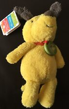 """New 15"""" Hallmark Always With You Recordable Plush Puppy Dog Yellow Collar Record"""