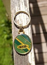 Ltd Keychain Keyring Key Chain Ring Green Blue Gold Tone Metal Limited
