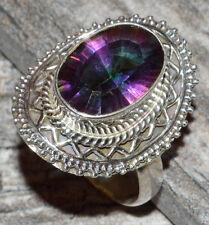 Rainbow Topaz 925 Sterling Silver Ring Jewelry s.9 JJ5212