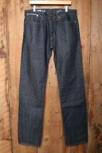 GAP Straight Leg Blue Selvedge Ringspun Denim Jeans Sz. 34x36 (Measure 36x37.5)