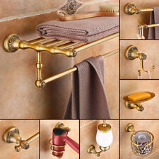 Antique Brass Bathroom Accessories Towel Bar Ring Holder Bathroom Hardware Set