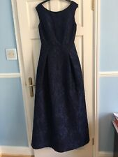 Karl Lagerfeld Navy Blue Floral Sleeveless Evening Dress Ball Gown Size 8