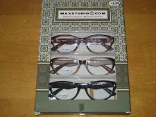 New MAX STUDIO Premium Quality Women's Reading Glasses + 2.00 3 Pack NIB