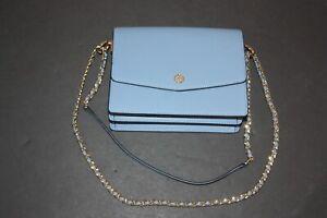 Tory Burch Ladies Robinson Daisy Floral Interior Convertible Shoulder Bag  Blue