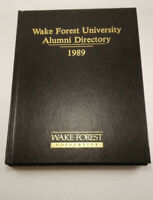 1989 Wake Forest University Alumni Directory Demon Deacons