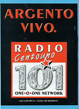 BELLEU999-PUBBLICITA'/ADVERTISING-1999- RADIO 101 - ARGENTO VIVO