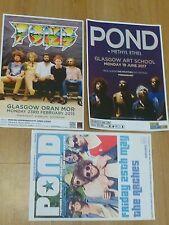 Pond - Scottish tour Glasgow concert gig posters x 3