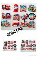 I LOVE LONDON ENGLAND UK FRIDGE MAGNET SOUVENIR CERAMIC NEW BEST PRICE SET OF 12