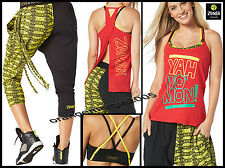 ZUMBA 3Pc.SET! Yah Wo Mon Tank + Kingston Bra Top + DanceHall Capri Dance Pants