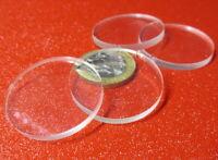 "1/8"" (.118"") Thick x 1.25"" (1 1/4"") Diameter Acrylic Circle Disc Clear 50 Pcs"