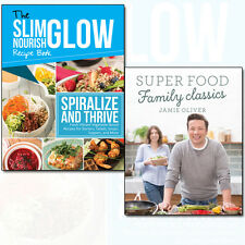 Jamie Oliver Super Food Family Classics, Spiralize and Thrive 2 Books Set NEW