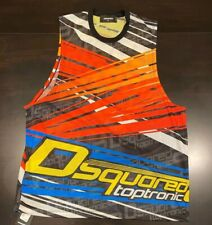 """$420 Men's Authentic Dsquared2 """"Taptronic"""" Perforated Muscle Tank Top XL"""