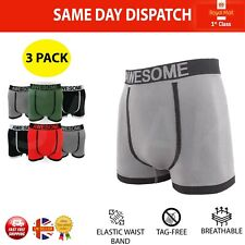 3x Seamless Mens Underwear Stretch Fit Sports Boxer Briefs Shorts Underpants UK