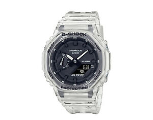 Casio G-Shock Analog Digital Transparent Pack Clear/Black Watch GA2100SKE-7A