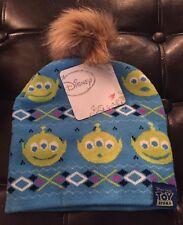Toy Story Beanie Women's Teen Winter Hat Alien Little Green Men NEW Pom Pom