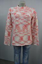 RIP CURL  dicker Strick Pullover  Gr.L  Weiß-Rot  meliert  mit Wolle warm TOP
