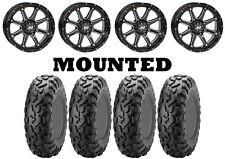 Kit 4 ITP BajaCross Tires 26x10-14/26x11-14 on STI HD4 Gloss Black Wheels POL