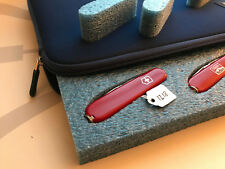 Collector Display Storage Carry Case for Victorinox Swiss Army knife 91mm Blue