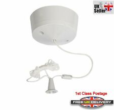 Ceiling Pull Cord Switch 10Amp 250v 1 or 2 Way Bathroom Toilet Light  Switches