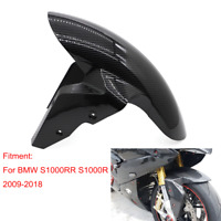 For BMW S1000RR 2009-2018 Carbon Fiber Front Fender Mudguard Hugger Cover Twill