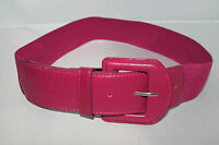 "LADIES PINK ELASTICATED WAIST BELT 2"" - WITH MATCHING BUCKLE - UK SELLER"