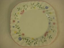 "JOHNSON BROTHERS SUMMER CHINTZ, MADE IN ENGLAND SQUARE PLATE, 7 1/2"" X 7 1/2"" D"