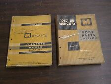 OEM Ford 1957 1958 Mercury Master Parts Books Body + Chassis Turnpike Cruiser +