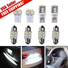 8PCS White LED Bulb License Interior Package Kit T10 & 30mm 31mm Festoon Lights