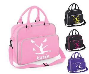 Personalised Girls Gymnastics Shoulder Dance Bag Ballet School Gym Kit