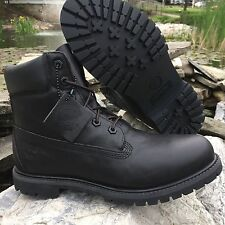 WOMEN'S TIMBERLAND CLASSIC 6-INCH PREMIUM BOOT BLACK SMOOTH 8161B SIZE 9