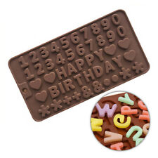 Letters & Numbers Silicone Chocolate Cake Mold Cookie Mould For Birthday Party
