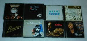 Soundtrack Phantom Les Mis Evita Saturday Night Fever Miami Vice CD Lot 12
