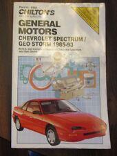 Chilton Chevrolet Spectrum GEO Storm 1985-93 Repair Tune-up Guide