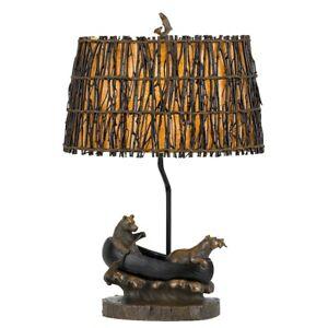 """Cal Lighting Bear, Canoe Resin 1 Light Table Lamp, Bronze/Brown, 27"""" - BO-2732TB"""