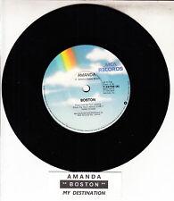 "BOSTON  Amanda 7"" 45 rpm vinyl record BRAND NEW + jukebox title strip"
