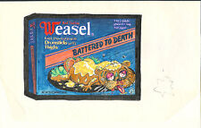 Weasel. Battered To Death - Wacky Packages Preliminary Color Art