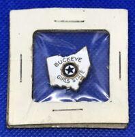 Buckeye Girls American Legion Auxiliary State Ohio Gold-Tone Enamel Pin Back